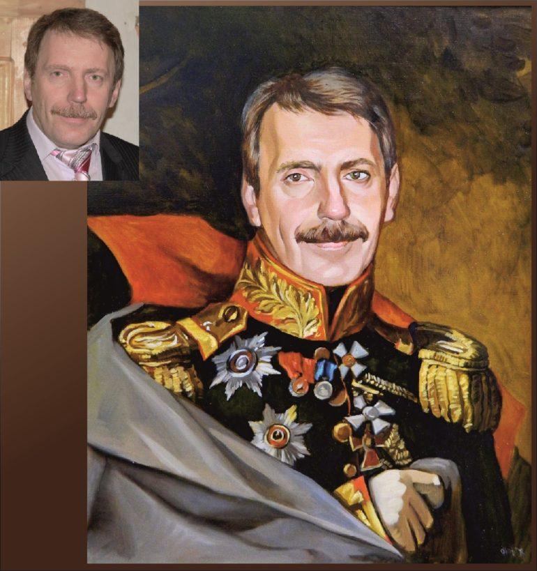 Настоящий портрет маслом на заказ в Иркутске…