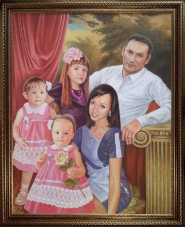Семейный портрет маслом в Иркутске — правильная традиция…