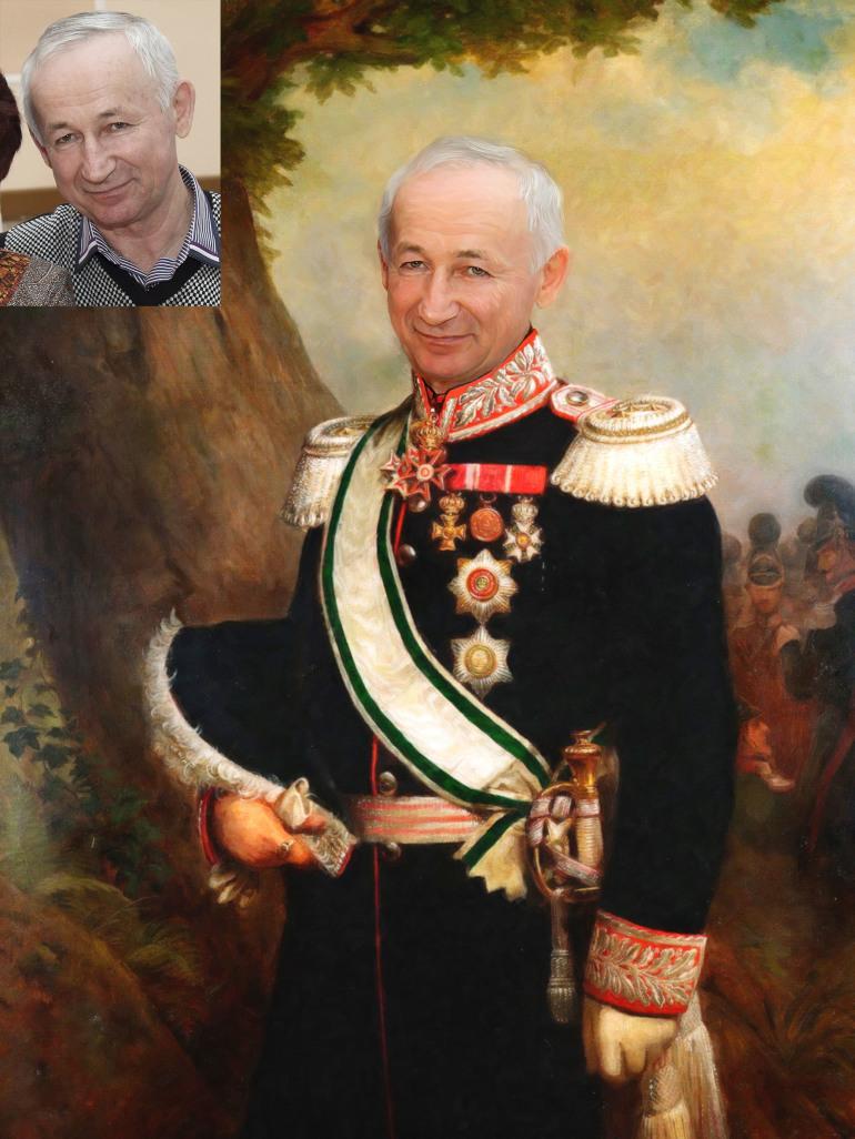 Где заказать исторический портрет по фото на холсте в Иркутске?