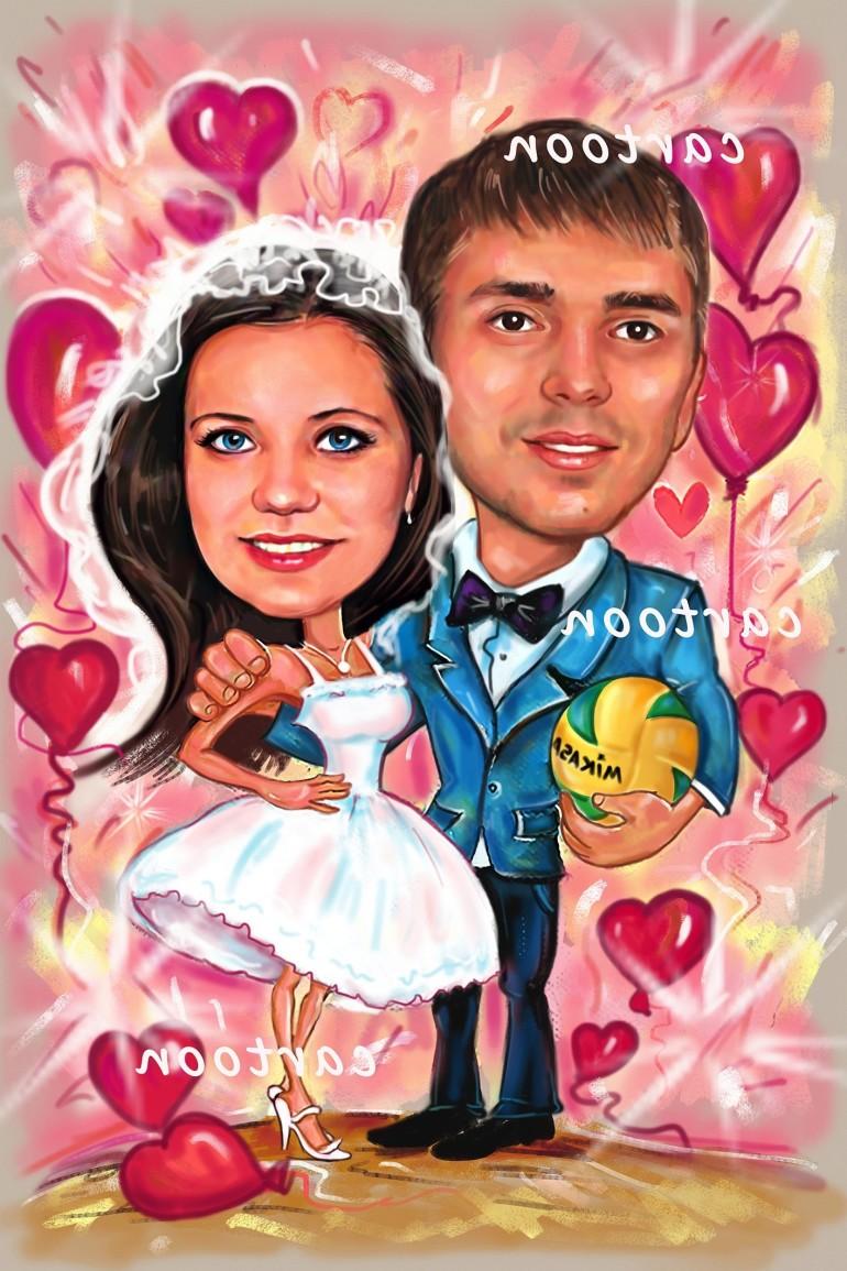 Свадебный шарж с оригинальным сюжетом в Иркутске!