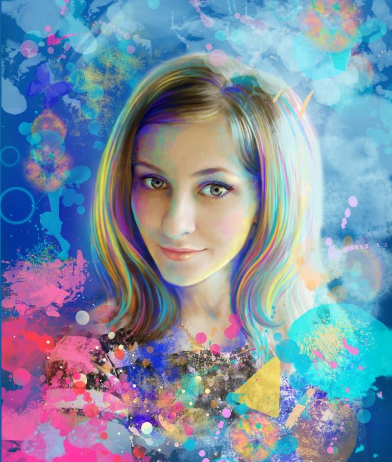 Рисунок красками по фото онлайн