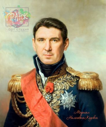 Портрет по фото на холсте в подарок мужчине на 23 февраля Иркутск