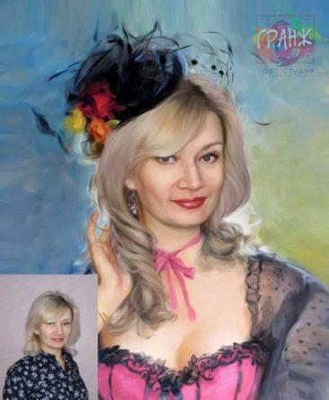 Заказать арт портрет по фото на холсте в Иркутске