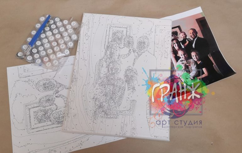 Картина по номерам по фото, портреты на холсте и дереве в Иркутске